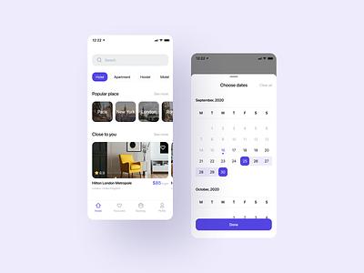 Booking App minimal ui ios booking app ux mobile app mobile ios app design app app design