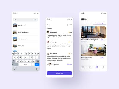 Booking App ui minimal ios ux mobile app mobile ios app design app app design