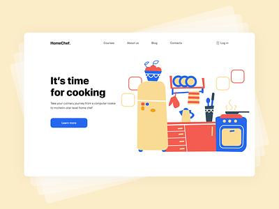 Cooking course uxdesign uidesign course cook minimal design ui illustration ux