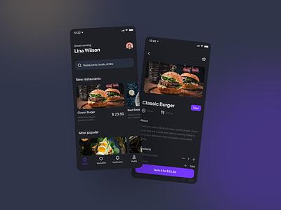 Food Delivery App minimal ios ui mobile app mobile ux ios app app design app design