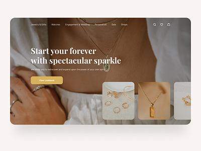 Jewelry Boutique webdesign website jewelry shop jewelry ui typography branding illustration ux design