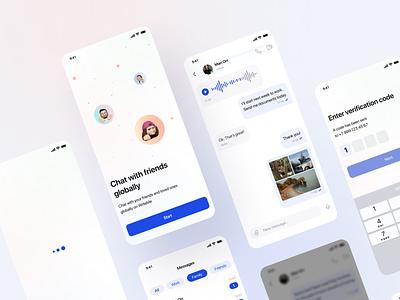 Messenger App chat app branding mobile ios app messenger app design ui ux design