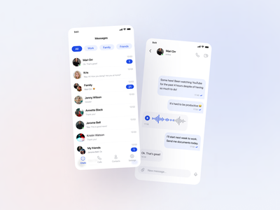 Messenger App chat messenger branding mobile ios app app design ux app ui design