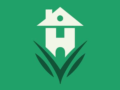 Homesville Logo mark logo simple austin home real estate