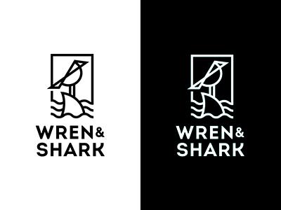 Wren and Shark Logo recordcollective sharklogo animallogos wrenandshark