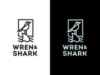 Wren and Shark Logo