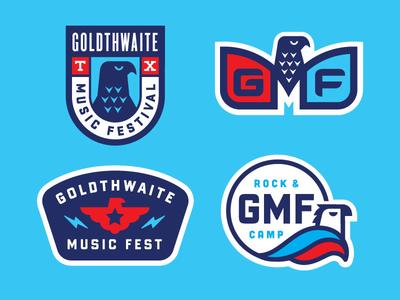 Goldthwaite Music Fest 2016 Patch Designs crest musicfest eagle patches