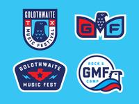 Goldthwaite Music Fest 2016 Patch Designs