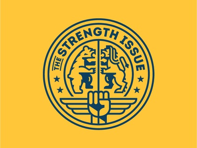 The Strength Issue Seal One 828 fist strength lion bear badge