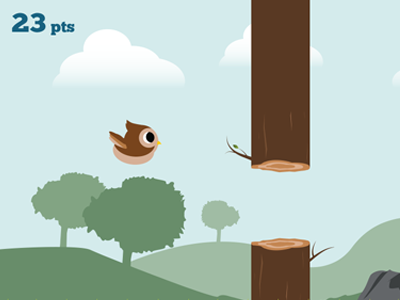Ollie The Owl - iPhone game illustration iphone game illustration cartoon landscape vector illustrator