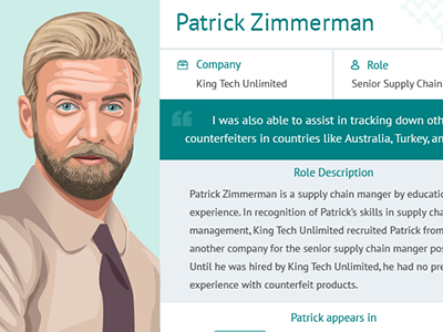 Persona card layout design persona character illustration card layout instructional education university case study
