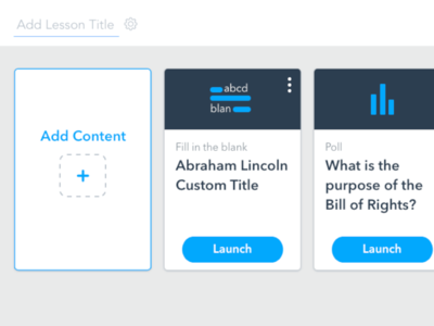 Create-A-Lesson dashboard design with a purpose teach school students create lesson redesign edtech education