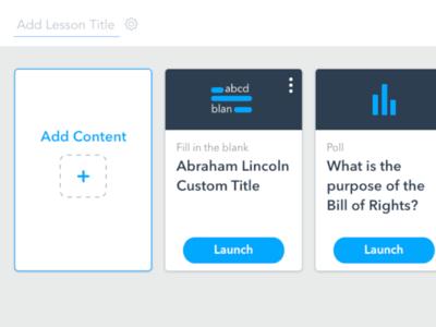 Create-A-Lesson dashboard