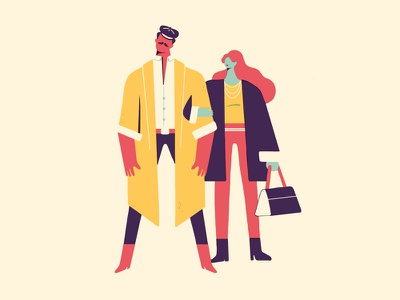 PEOPLE lifestyle food fashion design illustrations travel characters