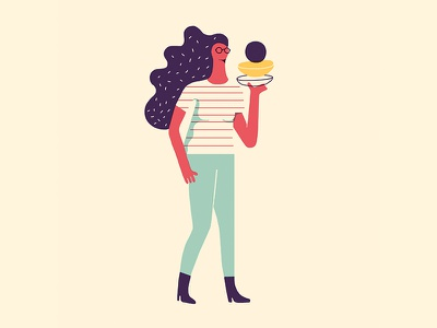 PEOPLE food fashion style girl minimal direction design character waiters