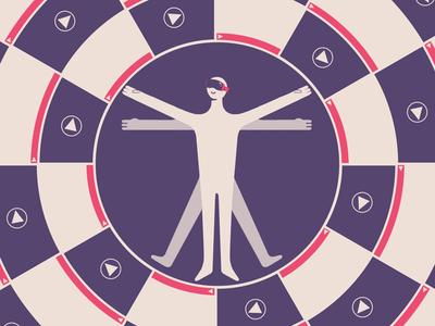 VIDEO ADV AROUND US  geometry circle people editorial commercial adv animation video fausto montanari illustration