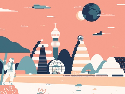 ANOTHER WORLD - AR sky spaceman planet new world space future illustration ar augmented reality