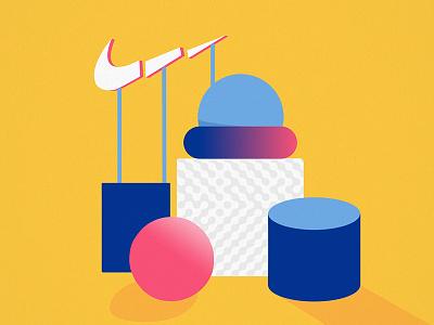 NIKE - Materials commercial fausto montanari art design flat shapes motion animation sport nike
