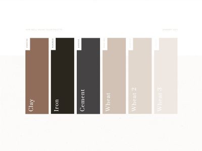Our Well House Neutral Color Palette colors neutral our well house branding earth tones earthy wellness clay tan color palette neutral colors