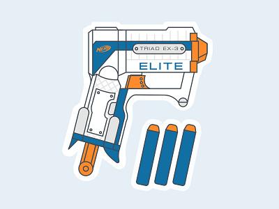 Nerf Gun - Agency Life dart lines vector illustration agency gun nerf