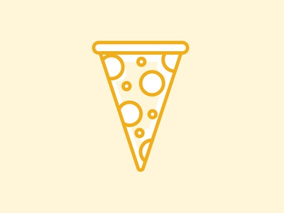 Something Spectacular is Coming yellow illustration vector dallas agency food pizza set icon