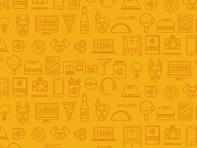 Buzzshift Agency Icon Set taco pizza burger food dog macbook agency icons buzzshift yellow agency icon set icons
