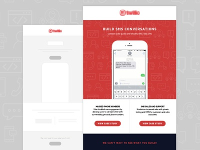 Email Design  template development notifications text sms developer redesign wireframe case study tech design email