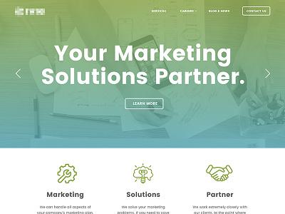 Homepage Mockup ui green blue solutions design homepage website marketing gradient