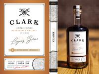 Whiskey Bottle Gift Label - Clark