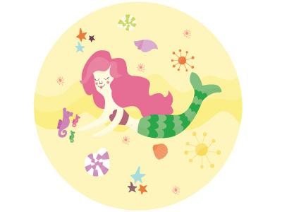 Mermaid vector illustration mermaid