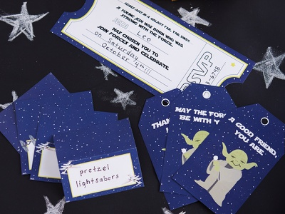 Star Wars Party vector illustration design party favors