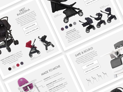 Baby Gear Quality Guides interface landing pages web guides