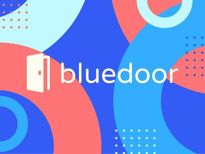 Bluedoor school scholar education modern symbol mark typography vector logo icon illustrator design identity branding brand