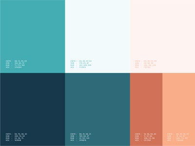 Abode Color Scheme contrast dynamic explore mockup palette turquoise red color love vector illustrator design identity branding brand