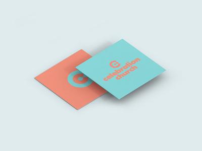Celebration Business Card 2 mockup neon minimal simple typography type love vector logo church icon illustrator design identity branding brand