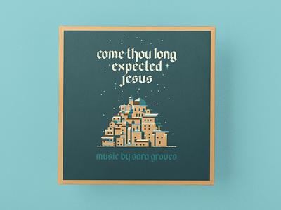 Concept 1 bible jerusalem city tan cream teal blue melody song christmas music cd album illustration typography love design identity branding brand