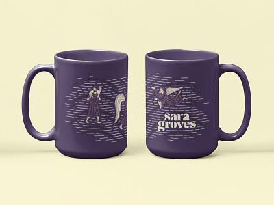 Mugs product product design merch coffee drink cream king shepherd angels purple illustration typography love design identity branding brand