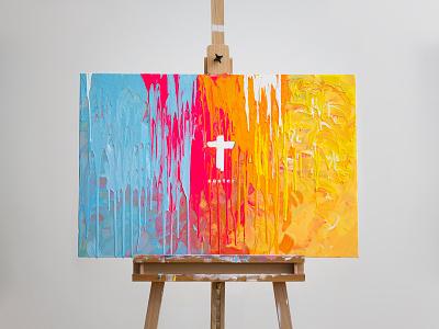 Easter 2017 sermon love graphic peace grace vibrant life jesus paint cross church easter