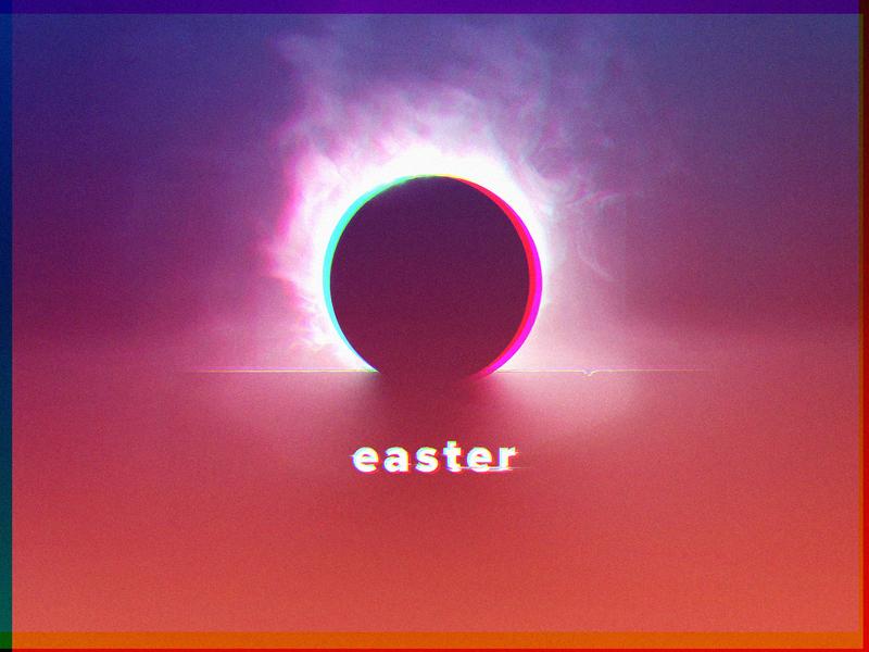 Easter 2018 design vibrant love jesus pink purple chromatic branding brand church tomb easter