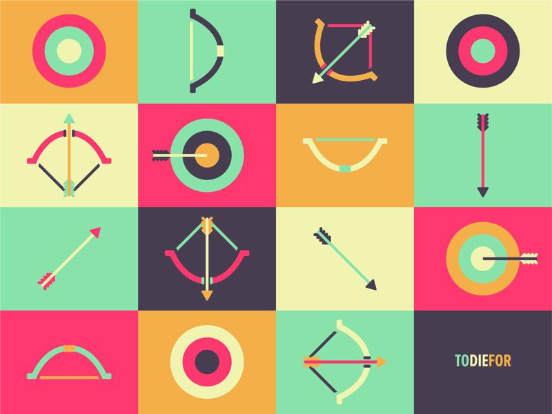 To Die For mark core center target bow arrow triad primary illustration vector love series sermon design identity illustrator branding brand church