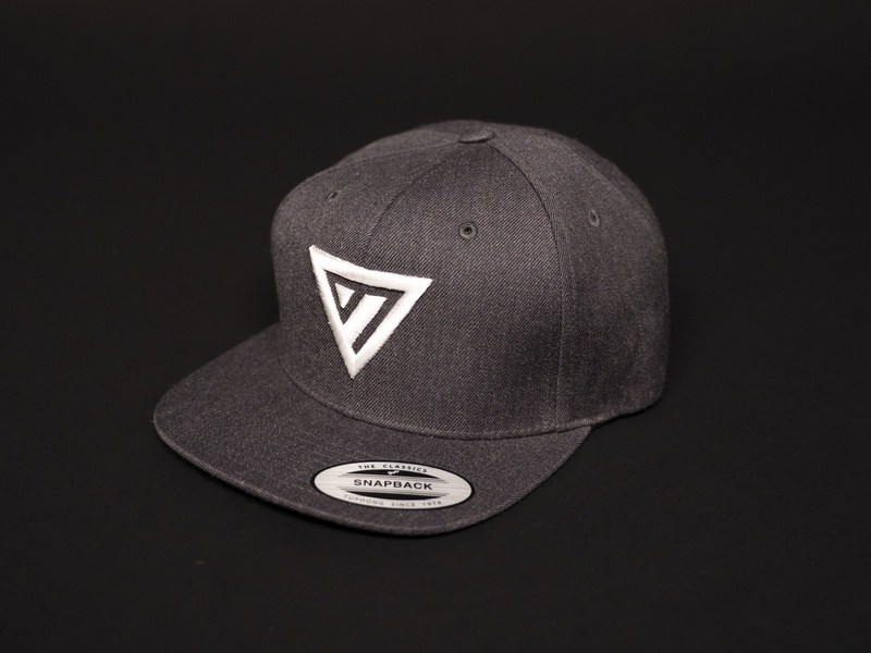 YTH Hat grayscale triangle youth group group youth hat logo icon design identity branding brand church