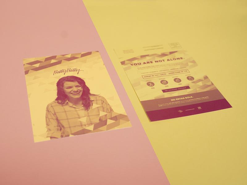 PrettyPretty Flyer flyer women yellow pink pamper help happy duotone love photoshop design identity branding church brand