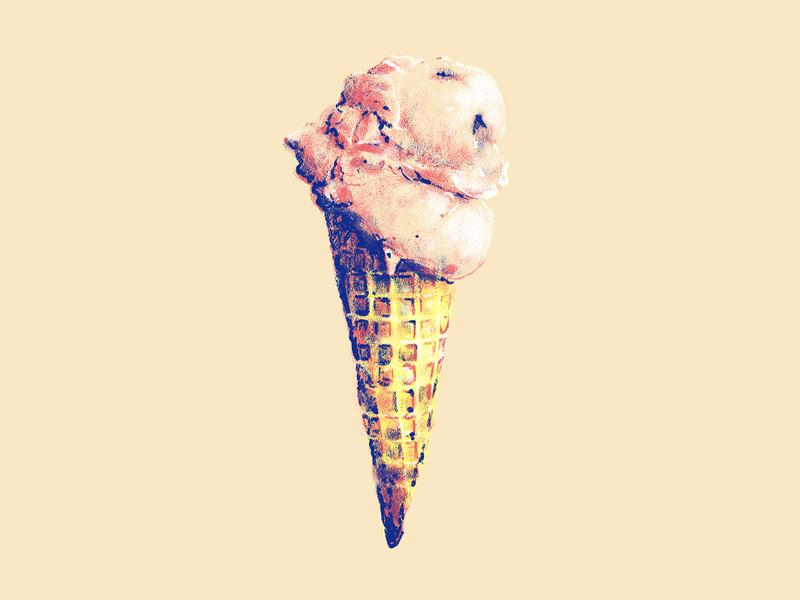 Ice Cream 1 sweet dessert food primary waffle strawberry summer cone love photoshop design identity branding brand church
