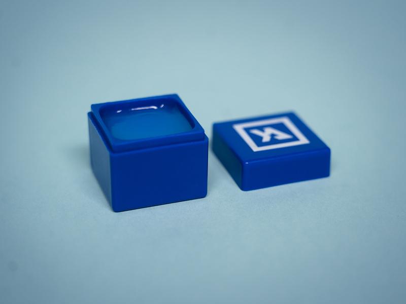 Chapstick balm square lips blue illustrator vector logo icon love design identity branding brand church
