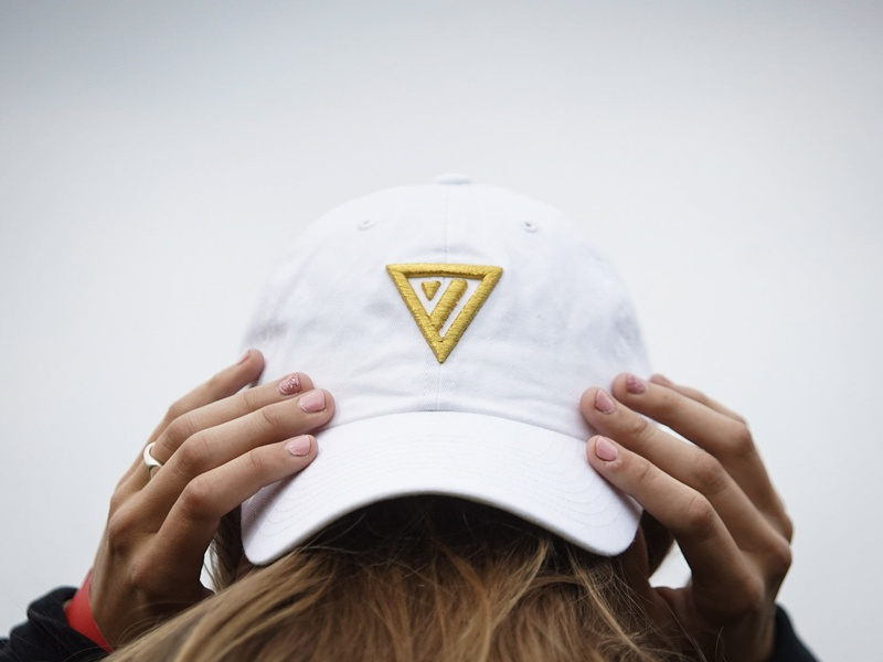 White Hat love gold youth group youth group triangle logo design identity branding brand church