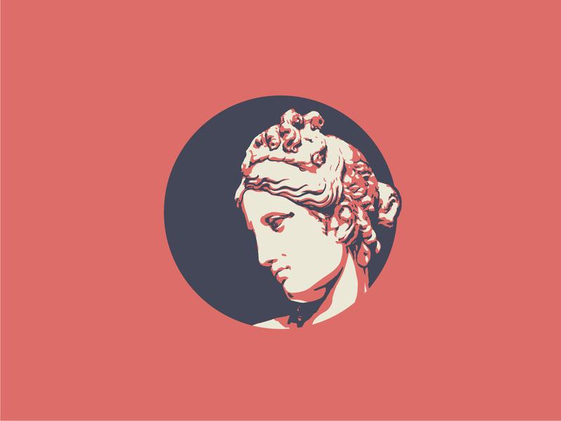 Athena tritone sculpture statue greek illustration vector icon illustrator design identity branding brand