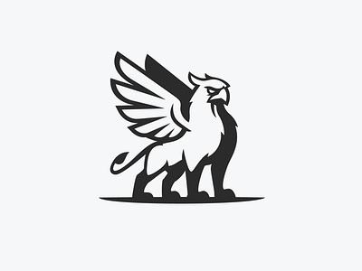 Griffin 3 sports animal basketball lion bird eagle mythology mythological myth vector logo icon illustrator design identity branding brand