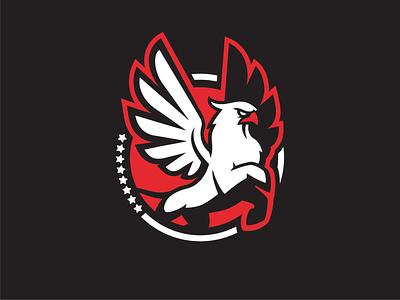 Team Griffin sports basketball animal lion wings eagle bird mythological mythology myth illustration vector logo icon design identity branding brand