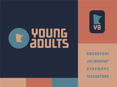 Minnesota Young Adults 2 friendship college friends group typography vector logo icon church illustrator design identity branding brand