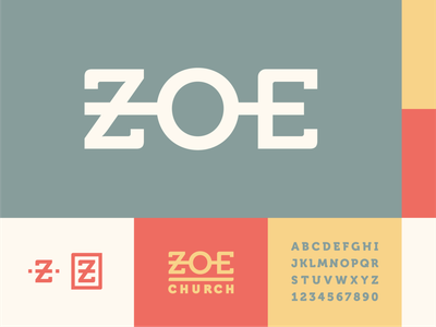 Zoe Church 2 pallete typography logo icon church illustrator design identity branding brand